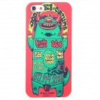 Green Worm Patten Protective Plastic Case for Iphone 5 - Red