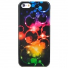 2D Protective Electroplating PC Case for iPhone 5 - Multicolored
