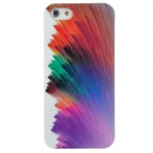 Colorful Feather Pattern Protective Plastic Case for Iphone 5