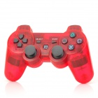Wireless Dual Shock 6-Axis Bluetooth V4.0 Controller for PS3 / PS3 Slim - Transparent Red