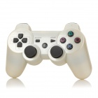 Oil Spraying Surface Dual Shock 6-Axis Bluetooth V4.0 Controller for PS3 / PS3 Slim - White