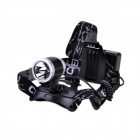 LL-6632 Cree XP-E R2 200lm 3-Mode Bike Light - Black + Silver (2 x 18650)