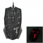 A-JAZZ Q7 Cool Fissure Pattern Wired USB 2.0 8-Keys 750 / 1200 / 1600 / 2400dpi Optical Gaming Mouse