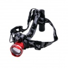 Lzz-186 Cree XM-L U2 408lm Cool White 3-Mode Zooming Headlamp - Red + Silver (1 x 18650)