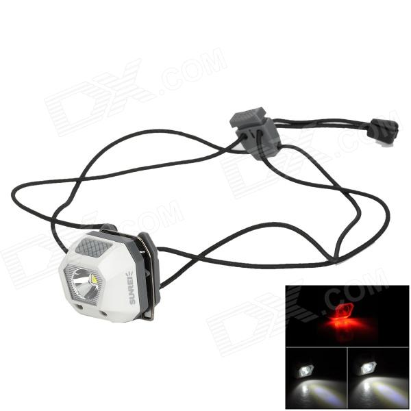 SUNREE Mini 24lm 5-Mode White + Red Headlamp w/ Cree ML-E N2 - White + Grey (2 x CR2032) mini 2 mode white light camping lantern with carabiner clip 2 cr2032 color assorted