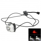 SUNREE Mini 24lm 5-Mode White + Red Headlamp w/ Cree ML-E N2 - White + Grey (2 x CR2032)