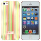 Vertical Stripe Heat Tranfer Printing Protective Plastic Case for Iphone 5