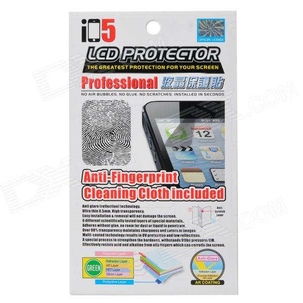 Protective Anti-fingerprint PET Screen Protector Guard Film for Iphone 5 protective matte frosted screen protector film guard for nokia lumia 900 transparent