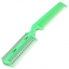 Plastic Hair Trimmer Comb for Pets Dog Cat - Green