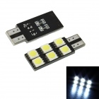 Merdia LEDD004T10A6 T10 1.25W 72lm 6-SMD 5050 LED White Light Car Lamp Bulbs - (DC 12V / 2 PCS)