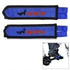 ACACIA 635602 Durable Nylon w/ Velcro Foot Band for Cycling - Blue + Black (2 PCS)