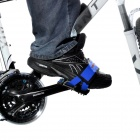 ACACIA Durable Nylon w/ Velcro Foot Band for Cycling - Blue + Black (2 PCS)