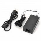 AC Power Adapter w/ Extension Cable - Black (100~240V / 2-Flat & 1-Round-Pin Plug)
