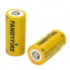 FANDYFIRE Rechargeable 3.7V 880mAh 16340 Li-ion Battery w/ Protection Board - Yellow + Black (2 PCS)