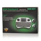 Portable 2.4GHz Wireless 92-Keys Keyboard & Air Mouse Combo - Black (Russian)