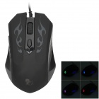 Genius Leishen X1 Wired USB 2.0 800/1600/2000dpi Optical Gaming Mouse w / bunte Licht - Schwarz