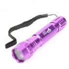 UltraFire 501B Aluminum Alloy Flashlight Case w/ Bicycle Mount / Strap - Purple