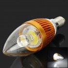 Kingland KL-B-C3-L1 E14 3W 240lm 6500K COB LED White Light Bulb - Golden