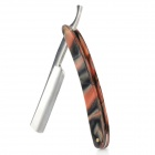 RENREN Classic Steel Straight Edge Razor Folding Shaving Razor Knife Set - Wine Red