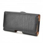 Convenient Belt Mounted Style Protective PU Leather Case for Nokia 925 - Black