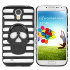 Cool Skull Style Hollow-Out Protective Back Case for Samsung Galaxy S4 i9500 / i9508 - Black