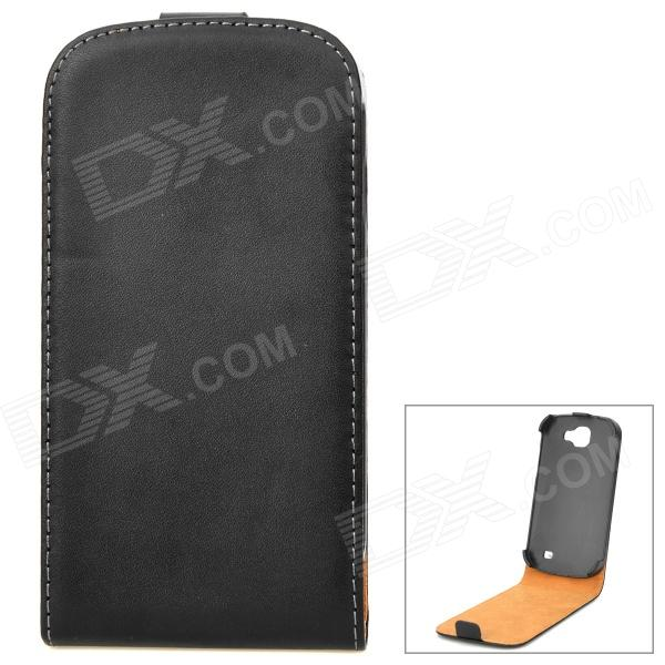 Stylish Protective PU Leather Case for Samsung Galaxy Express i8730 - Black protective frosted abs back case for samsung galaxy express i8730 white