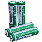 SingFire 4 x 18650 2400mAh Rechargeable Li-ion Batteries w/ Protection Circuit