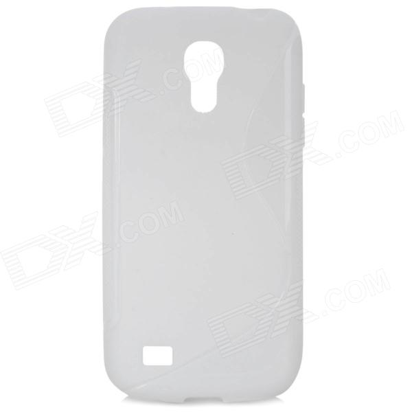"""S"" Style Protective TPU Back Case for Samsung Galaxy S4 Mini i9190 - White"
