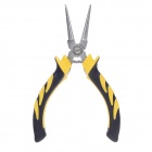"FEIBAO MN-125m/m 5"" Alloy Steel Round Nose Pliers - Black + Yellow + Silver"