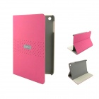 EBOX 161P Mini Simple Business Style Protective PU Leather Case Cover Stand for Ipad MINI - Pink
