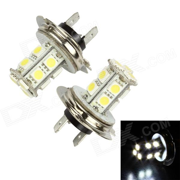 Merdia LEDD001B13H7 H7 3.9W 156lm 13-SMD 5050 LED White Light Car Foglight / Headlamp (Pair / 12V) h1 4w 220lm 68 smd 1210 led warm white light car foglight headlamp tail light 12v