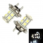 Merdia LEDD001B13H7 H7 3.9W 156lm 13-SMD 5050 LED White Light Car Foglight / Headlamp (Pair / 12V)