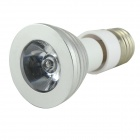 E27/E14 180lm 3W 265V RGB Light LED Spotlight w/ Remote Control - Silver (85~265V)