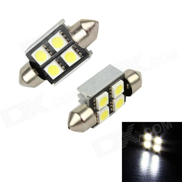 Merdia LEDD002B4A Festoon 36mm 3W 48lm 4 x SMD 5050 LED White Light Car Lamps - (2 PCS / 12V) carhartt wip acrylic watch chianti