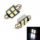Merdia LEDD002B4A Festoon 36mm 3W 48lm 4 x SMD 5050 LED White Light Car Lamps - (2 PCS / 12V)