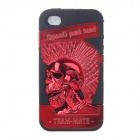 Cool 3D Skeleton Pattern Protective Plastic Back Case for Iphone 4 / 4S - Red + Black