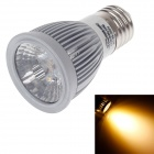 ZIYU ZY-655 E27 5W 500lm 3000K COB LED Warm White Light Lamp Bulb - Silver + White (85~265V)