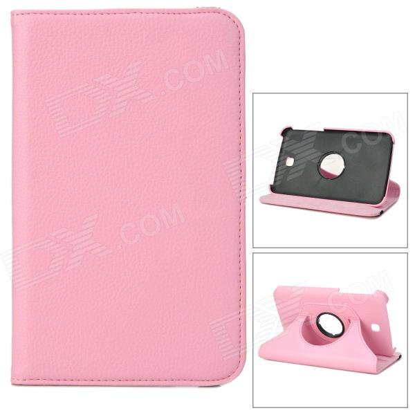 Protective 360 Degree Rotation PU Leather Case for Samsung Galaxy Tab 3 P3200 - Pink protective 360 degree rotation pu leather case for samsung p6220 brown