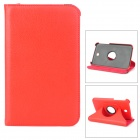 Protective 360 Degree Rotation PU Leather Case for Samsung Galaxy Tab 3 P3200 - Red