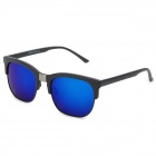 Fashion UV400 Protection PC Lens Sunglasses - Black + Blue REVO