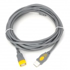 USB 2.0 Male to Female Adapter Extension Cable w/ Ring - Grey (5m)