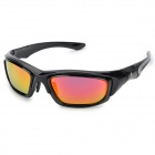 OREKA S1056 Resin Lens UV400 Protection Sunglasses - Black + Red REVO