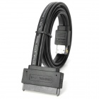 eSATA to SATA (7+15) Adapter Cable - Black