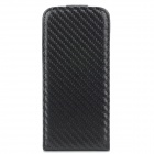 Hotsion TF01 Protective PU Leather Top Flip-Open Case for Iphone 5 - Black