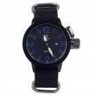 ORKINA W010 Stylish Men's Quartz Wrist Watch + Simple Calendar - Black + Blue + White (1 x LR626)