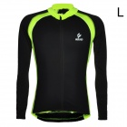 ARSUXEO Men's Cycling Polyester + Spandex Long-sleeve Jacket - Black + Fluorescent Green (L)