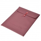 "Stylish Protective PU Inner Bag for MacBook Air 13.3"" - Purple Red"
