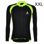 ARSUXEO Men's Cycling Polyester + Spandex Long-sleeve Jacket - Black + Fluorescent Green (XXL)