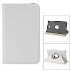 Protective 360 Degree Rotation PU Leather Case for Samsung Galaxy Tab 3 P3200 - White + Black