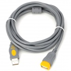 USB 2.0 Male to Female Adapter Extension Cable w/ Ring - Grey (3m)